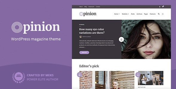 Opinion - Modern News & Magazine Style WordPress Theme - News / Editorial Blog / Magazine