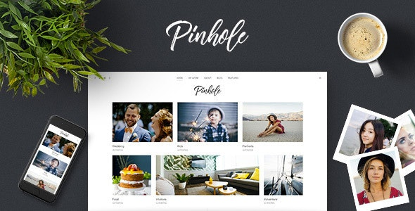 Pinhole - WordPress Gallery Theme for Photographers - Photography Creative