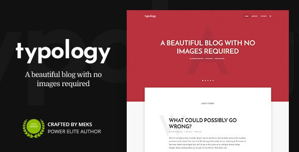 Typology - Minimalist WordPress Blog & Text Based Theme - Personal Blog / Magazine