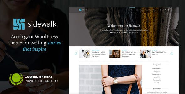 Sidewalk - Elegant Personal Blog WordPress Theme