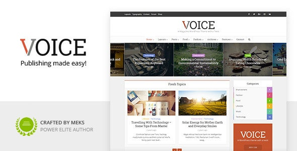 Voice - Clean News/Magazine WordPress Theme by meks