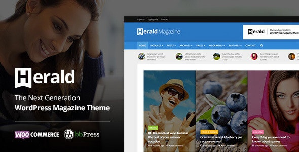 Herald - Newspaper & News Portal WordPress Theme - News / Editorial Blog / Magazine