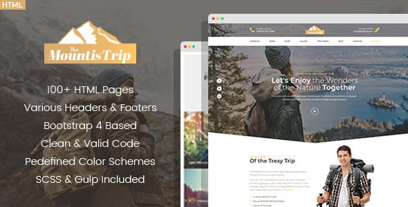 Mountis - Hiking And Outdoor Club HTML Template
