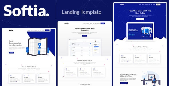 Softia – Responsive Bootstrap 4 Landing Template - Technology Site Templates