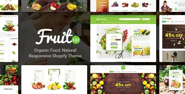 Fruit Shop - Organic Food, Natural Responsive Shopify Theme by ShopiLaunch
