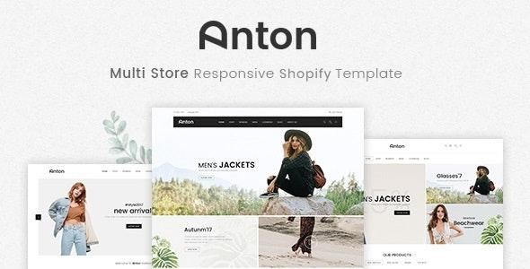 Anton - Multi Store Responsive Shopify Theme - Shopify eCommerce