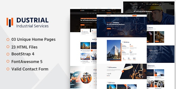 Dustrial - Factory & Industrial HTML Template - Business Corporate