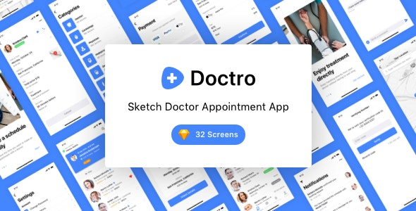 Doctro - Sketch Doctor Appointment App - Corporate Sketch