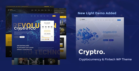 Cryptro - Cryptocurrency, Blockchain , Bitcoin & Financial Technology - Business Corporate