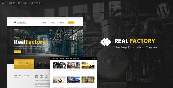 real factory fabrika wordpress teması
