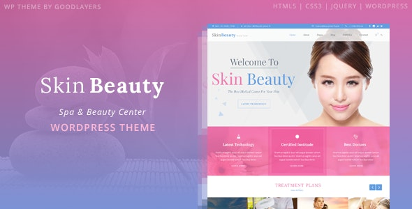 Skin Beauty - Spa WordPress - Health & Beauty Retail