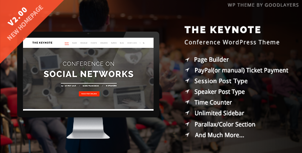 The Keynote - Conference / Event / Meeting WordPress Theme - Education WordPress