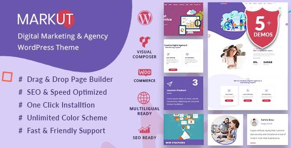 Markut - Digital Marketing & Agency WordPress Theme - Marketing Corporate