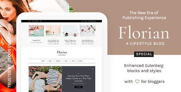Florian - WordPress Blog Theme Enhanced for Gutenberg