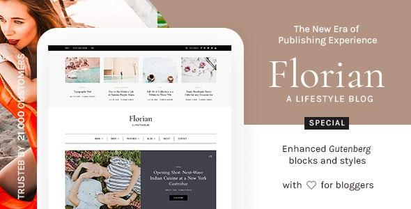 Florian - Responsive Personal WordPress Blog Theme - Personal Blog / Magazine