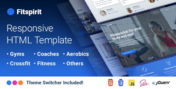 Fitspirit - Responsive Landing Page Template Fitness club for Body and Soul - Health & Beauty Retail