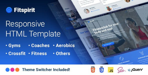 Fitspirit - Responsive Landing Page Template Fitness club for Body and Soul