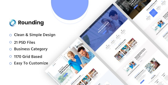 Rounding - Business PSD Template - Business Corporate