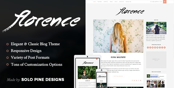 Florence - A Responsive WordPress Blog Theme by SoloPine | ThemeForest