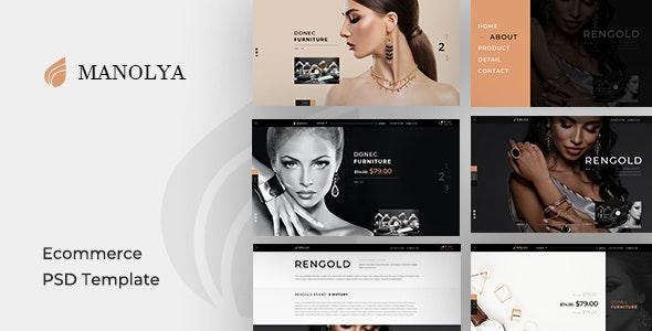Manolya - PSD Template - Shopping Retail