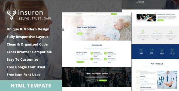insurance template Free Download | Envato Nulled Script