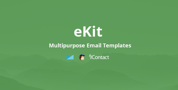 eKit Mail 80+ Modules - Unique Multipurpose Responsive Email set + Online Access - Email Templates Marketing