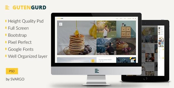 Gutengurd - Travel and Entertainment Blog PSD Template - Retail Photoshop