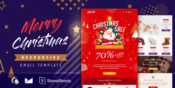 Merry - Responsive Email + StampReady Builder - Email Templates Marketing