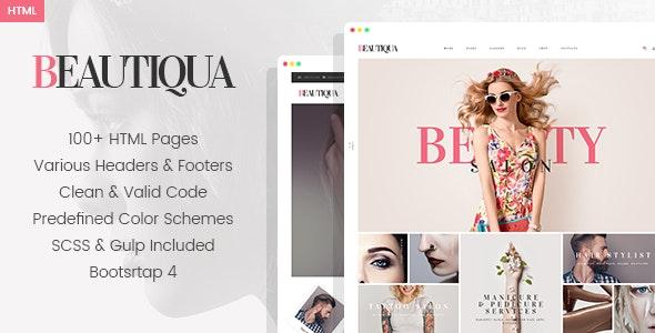 Beautiqua - Beauty Salon HTML Template - Fashion Retail