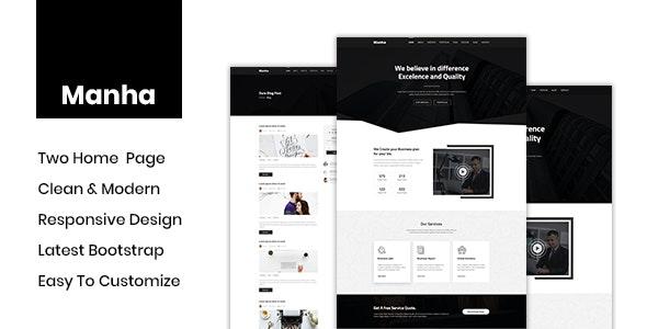 Manha - Creative Business PSD Template - Business Corporate