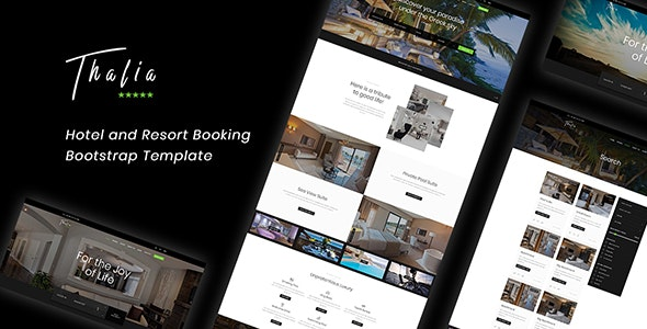 Thalia - Hotel and Resort Booking  Bootstrap Template - Travel Retail