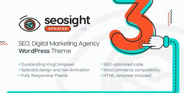 Seosight - SEO, Digital Marketing Agency WP Theme with Shop