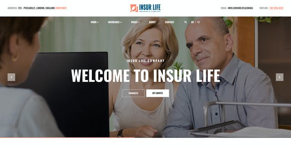 Insurlife - Insurance Agency PSD Template