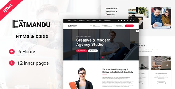 Catmandu | Multi-Purpose Corporate Template - Corporate Site Templates