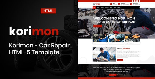 Korimon - Car Repair Responsive HTML-5 Template - Business Corporate