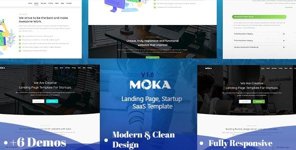 Moka - Landing Page, Startup HTML Template - Business Corporate