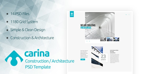 Carina - Construction / Architecture PSD Template - Business Corporate