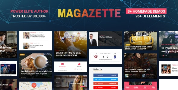 Magazette | News & Magazine WordPress Theme - News / Editorial Blog / Magazine