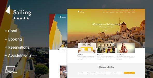 Hotel WordPress Theme | Sailing Hotel
