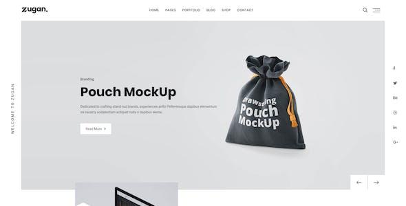 Zugan - Minimal Portfolio Bootstrap 4 Template