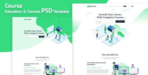 Coursa - Educational PSD Template - Business Corporate
