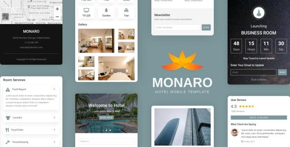 Monaro - Hotel Mobile Template - Mobile Site Templates