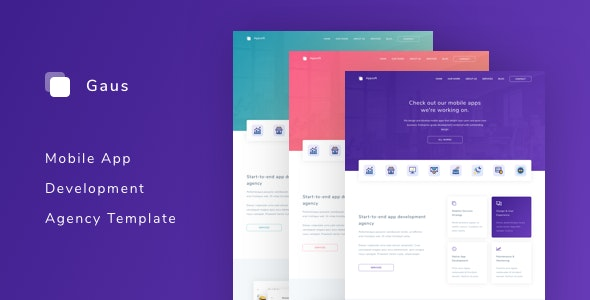 Gaus - Mobile App Development Agency Template - Business Corporate