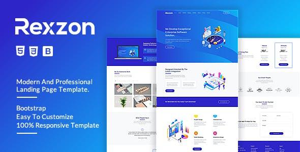 Rexzon - Responsive Software HTML5 Landing Page Template