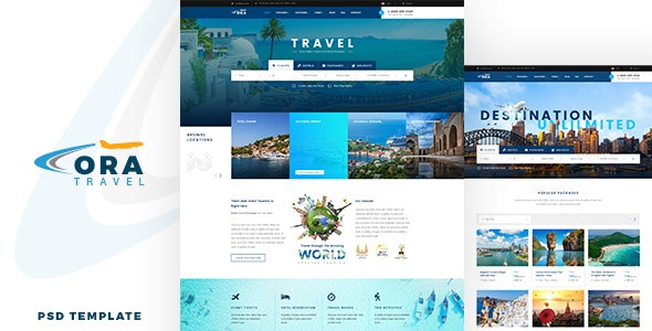 Ora | Travel and Hotel Booking PSD - Travel Retail
