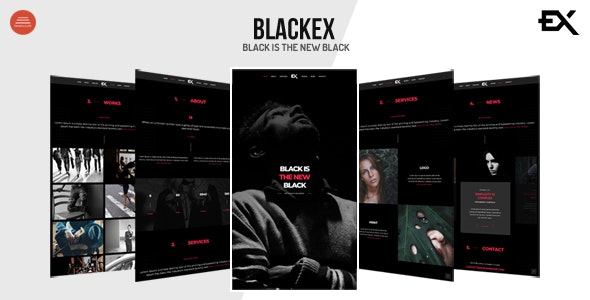 Blackex - Photography Portfolio Template - Portfolio Creative
