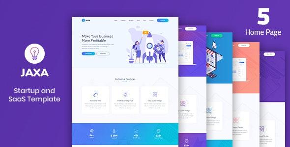 Jaxa - Startup and SaaS Template - Business Corporate