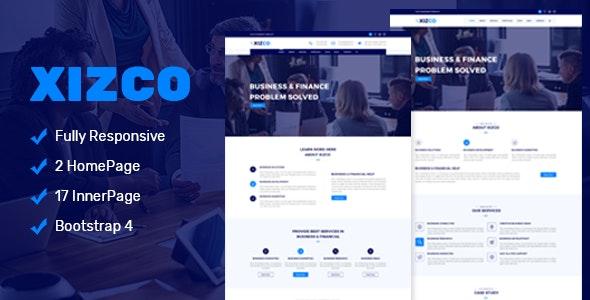 Xizco Multipurpose Business & Finance Template - Corporate Site Templates