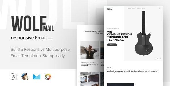 Wolf Mail - Responsive Email + StampReady Builder - Email Templates Marketing