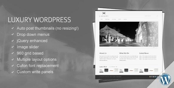 Luxury WordPress Template - Business Corporate